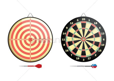 Dartboards : Dartboards with darts