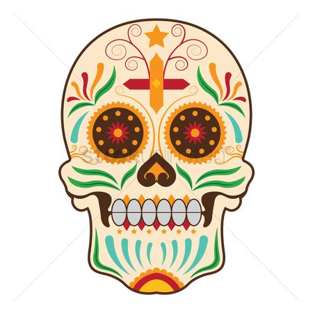 Mexicans : Day of the dead skull