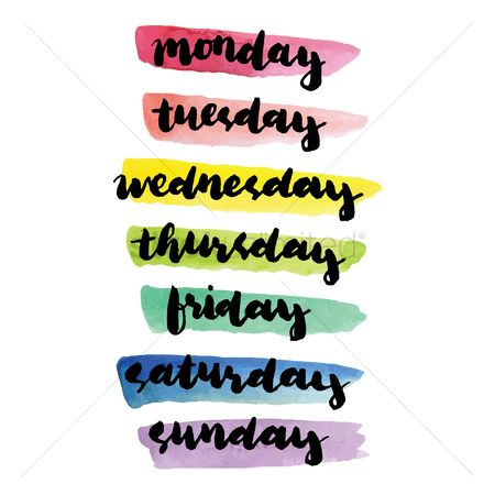 Fonts : Days of the week text