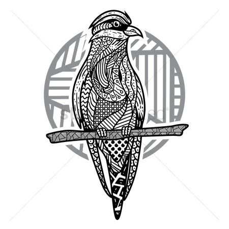 Drawings : Decorative bird design