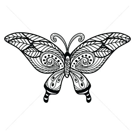 Drawings : Decorative butterfly design