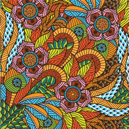Hand drawn : Decorative floral design