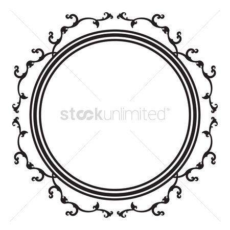Frame Circle Vintage