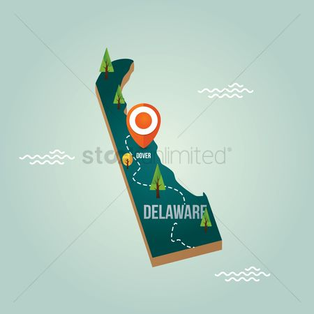 Delaware : Delaware map with capital city
