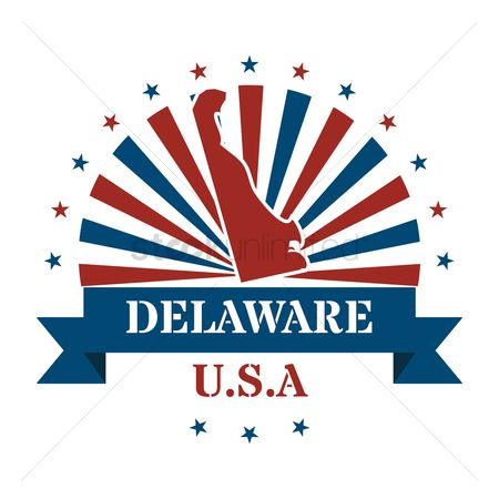 Delaware : Delaware state map label