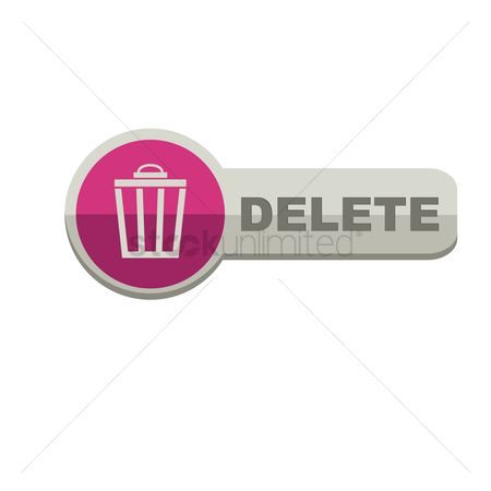 Delete : Delete button