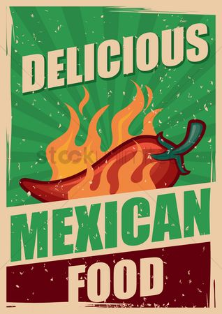 Mexicans : Delicious mexican food poster