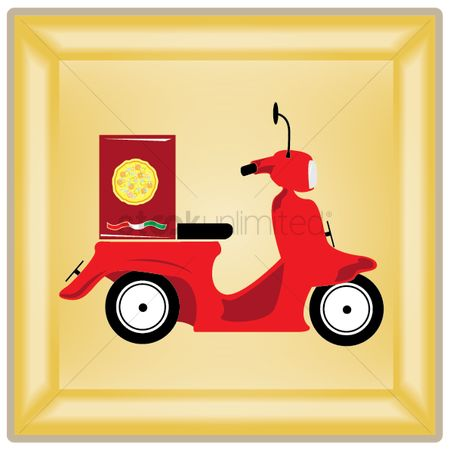 Pizza delivery : Delivery scooter