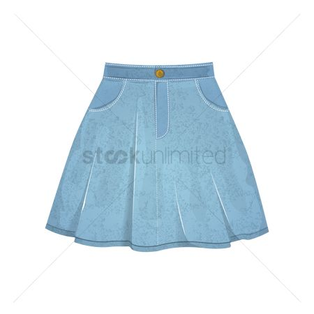Skirt : Denim skirt