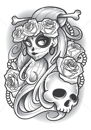 Patterns : Dia de los muertos design