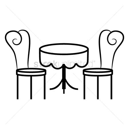 Cloth : Dining table and chairs
