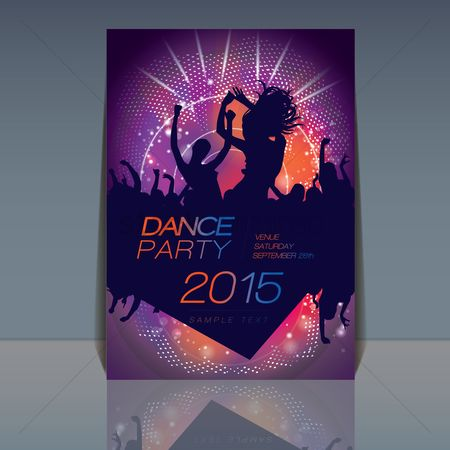 Dancing : Disco party background