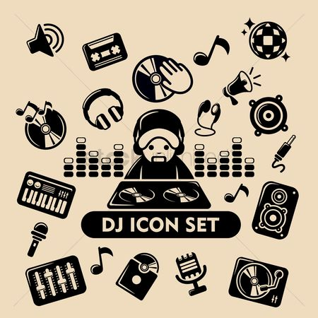 Microphones : Dj icon set