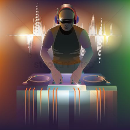 Party : Dj with turntable