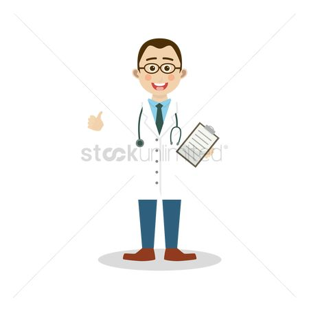 Doctor : Doctor holding a medical report