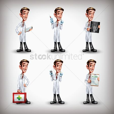 Medical : Doctor with different activities collection