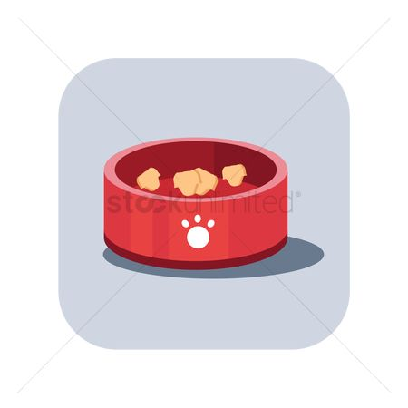 Biscuit : Dog food in a bowl