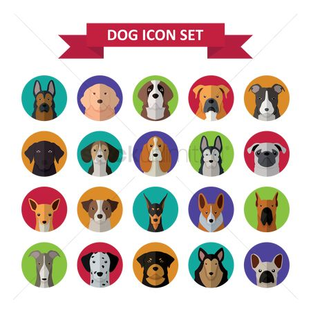 Cartoon : Dog icon set