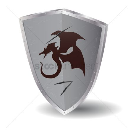 Silver : Dragon shield