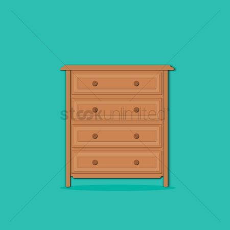 Interior : Drawer on turquoise background