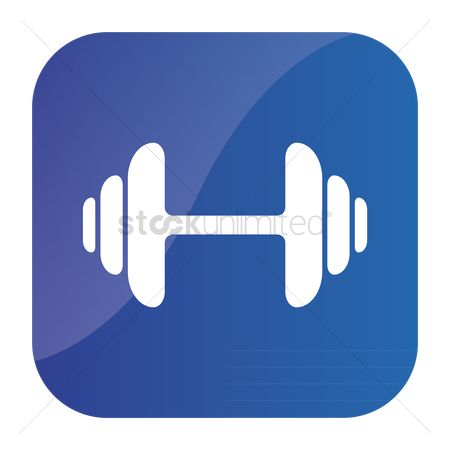 Power gym : Dumbbell icon