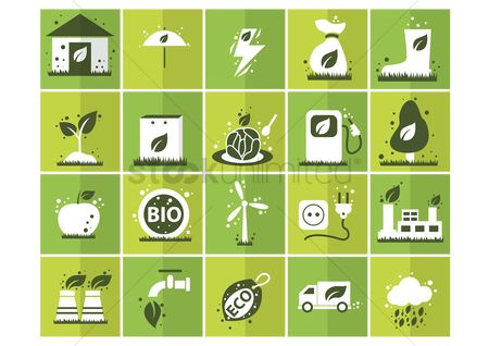 Truck : Eco friendly icons