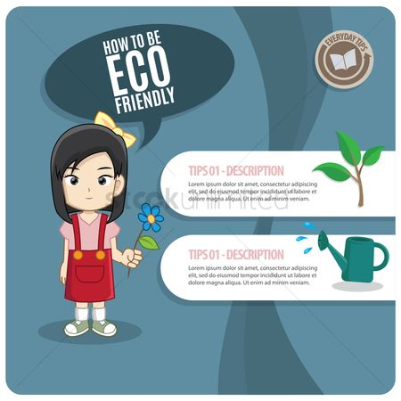 Tips : Eco-friendly infographic