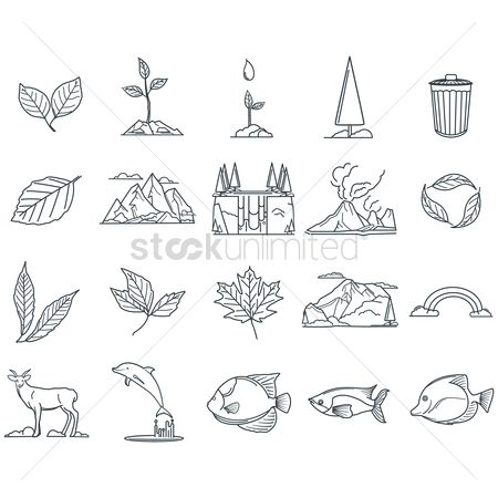 Mountain : Ecology and nature icons collection