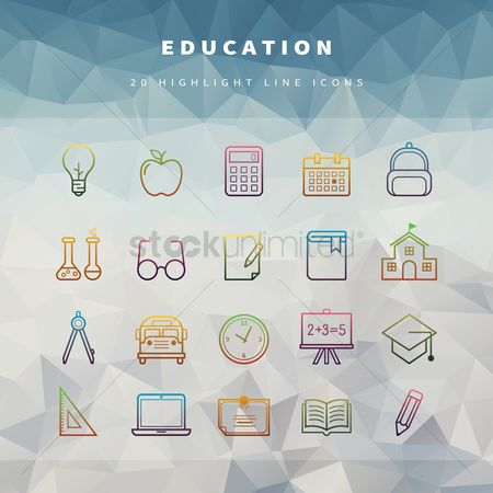 Blackboard : Education icons