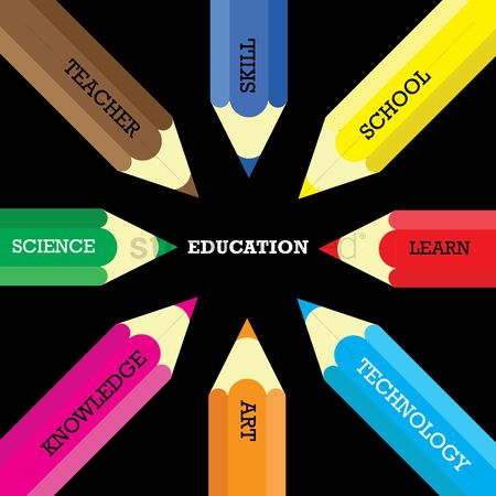 Teacher : Education infographic