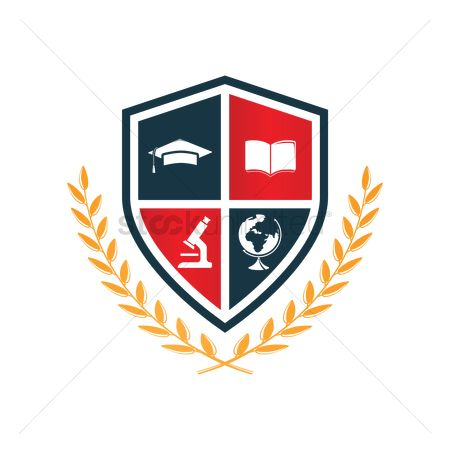 Shield : Education logo design