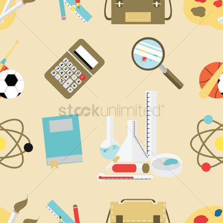 Magnifying : Education theme background