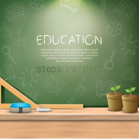 Copy space : Education wallpaper