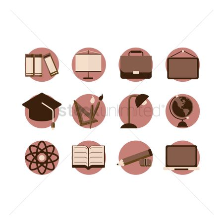Setsquare : Educational icons