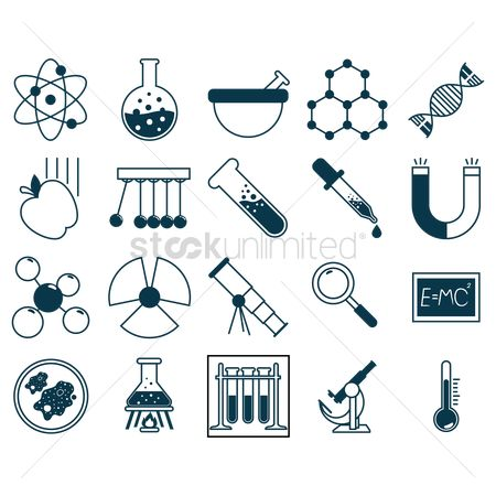 Chemicals : Educational icons