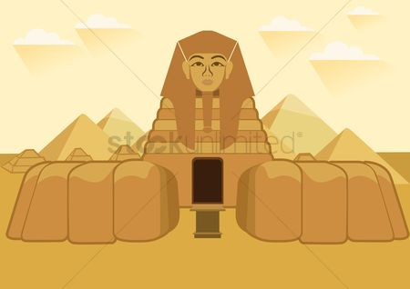 Statues : Egyptian pyramid