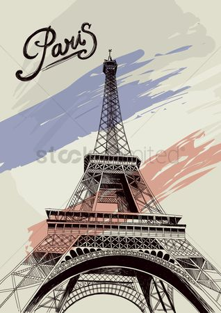 Monuments : Eiffel tower poster
