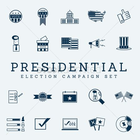 White house : Election campaign icons