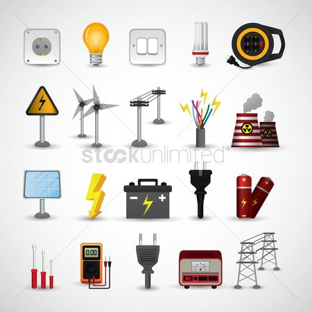 Supply : Electric icons