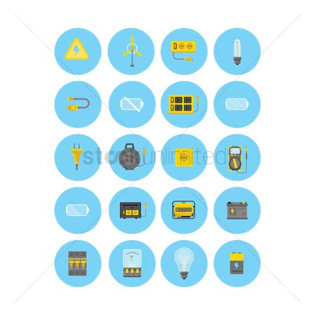 Meter : Electrical appliances icon set