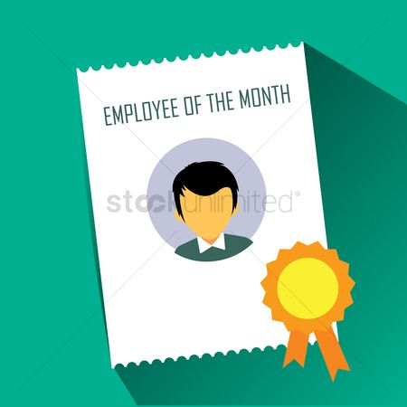 Acknowledgement : Employee of the month certificate