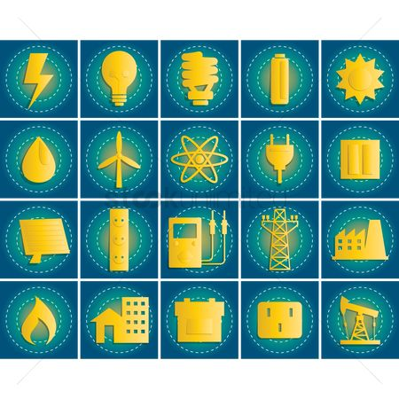 Filament : Energy related icon set