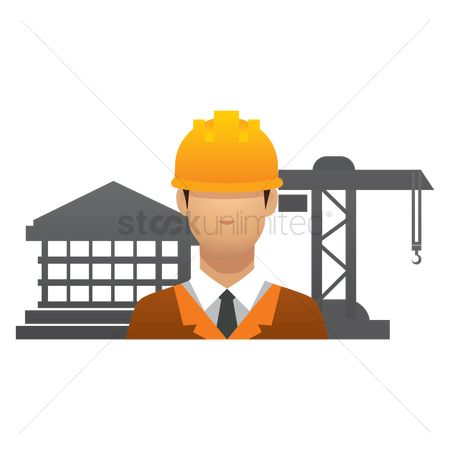 Machineries : Engineer at construction site