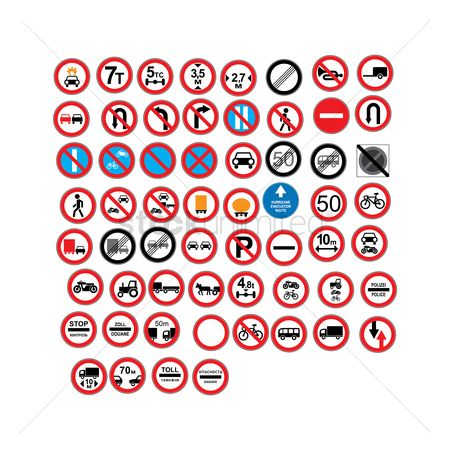 Lorries : European traffic icons