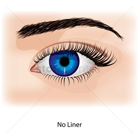 No : Eye with no liner
