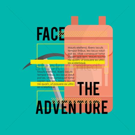 Pick axe : Face the adventure quote
