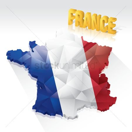 Tricolored : Faceted france map