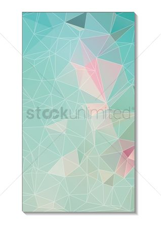 Mobiles : Faceted wallpaper for mobile phone