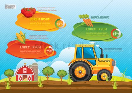 Towers : Farm and agriculture infographic