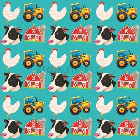 Cow : Farm theme background